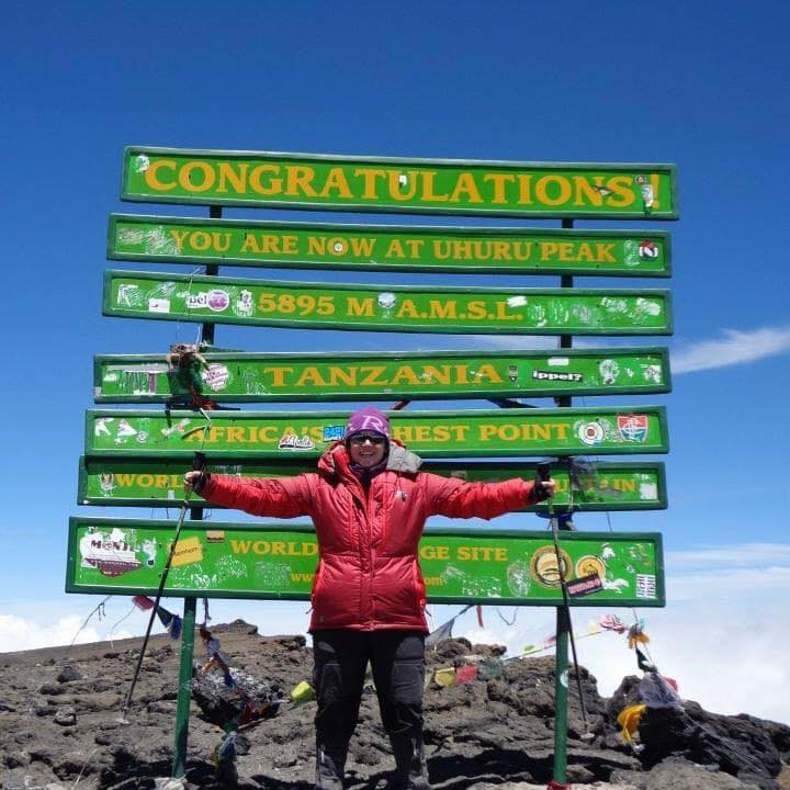 jenny on kilimanjaro